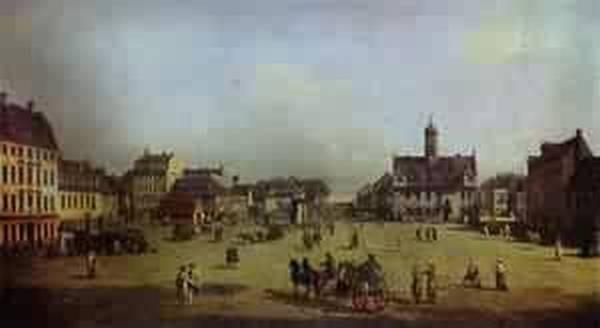 the new market square in dresden 1750 XX gemaldegalerie dresden germany